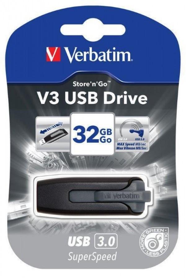 Verbatim V3 USB 32GB 3.0 Grey (49173)