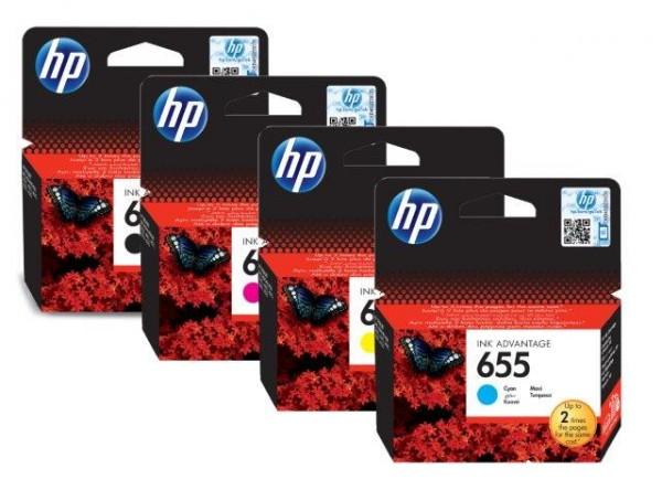 HP 655 Cyan Ink Cartr.[CZ110AE] HP Deskjet Ink Advantage 3525, 4615, 4625, 5525, 6525 e-All-in-One