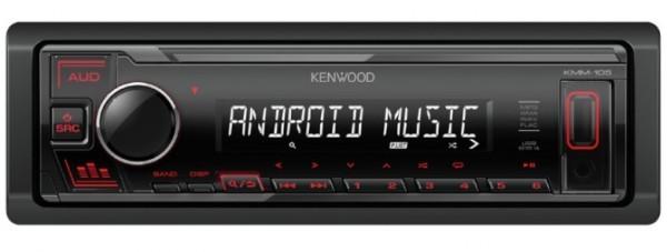 Auto radio Kenwood KMM-105RY FM, USB, 3,5mm, 4x45W