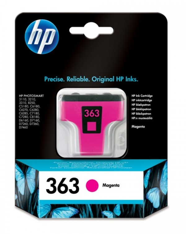 HP No.363 Magenta Ink Cartridge (Photo Smart 825032103310) [C8772EE]