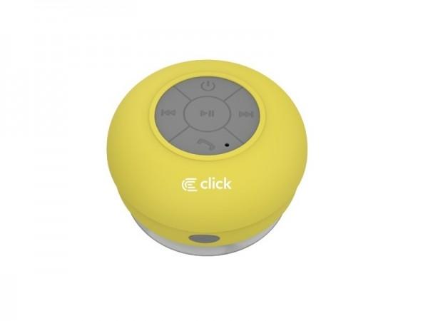 CLICK Bluetooth zvučnik BS-R-WS Waterproof Shower, zuti