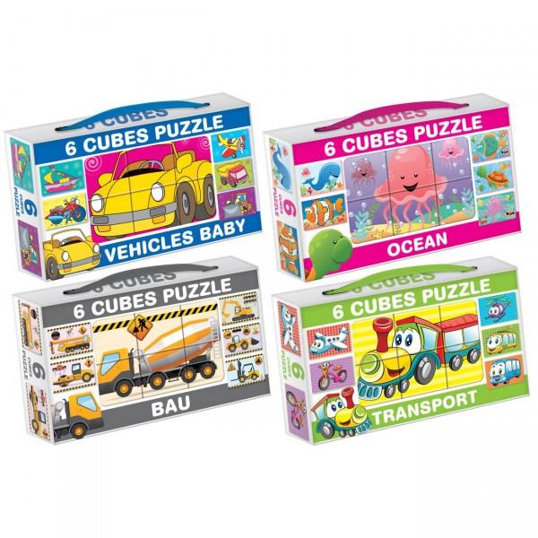 Kocke Puzzle 6 pcs, sort ( 05-644000 )