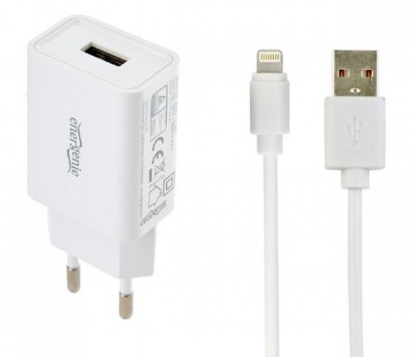 EG-UCSET-8P-MX Gembird punjac za telefone i tablete iPhone/iPad 5V/2.1A USB +8-pin USB kabl 1M