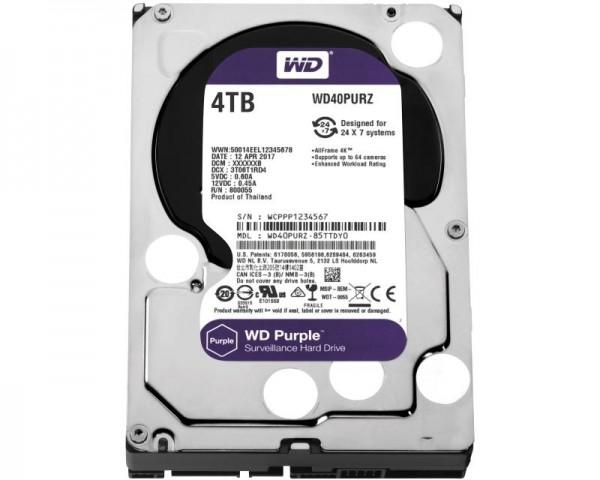 WD 4TB 3.5'' SATA III 64MB IntelliPower WD40PURZ Purple