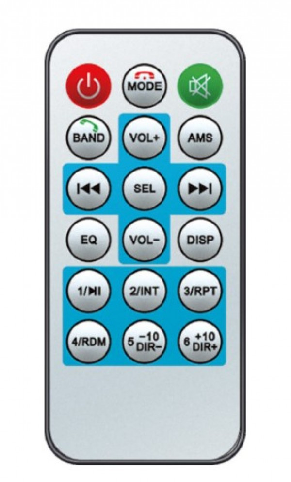 Auto radio SAL VBT1000/RD FM, USB, SD, 3,5mm, Bluetooth, 4x45W + daljinski