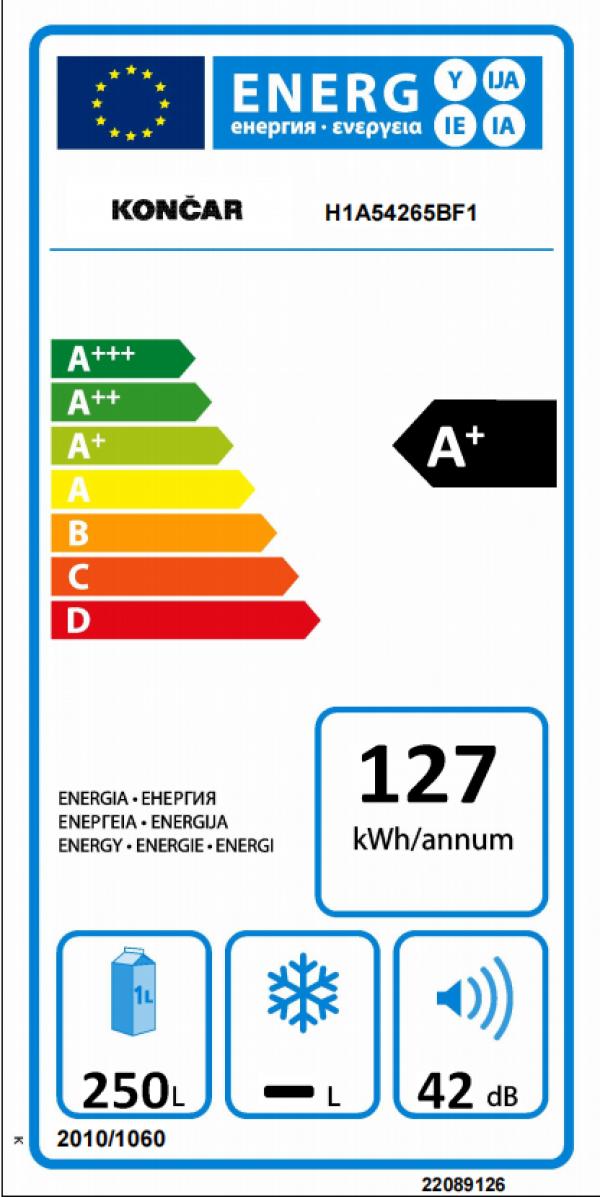 KONČAR Frižider H1A 54 265.BF1