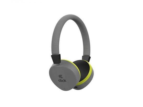 CLICK Slušalice bluetooth BH-L2-G sa mikrofonom, sive