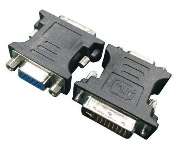 GEMBIRD A-DVI-VGA-BK Adapter DVI-A 24-pin male to VGA 15-pin HD (3 rows) female, black DVI-I