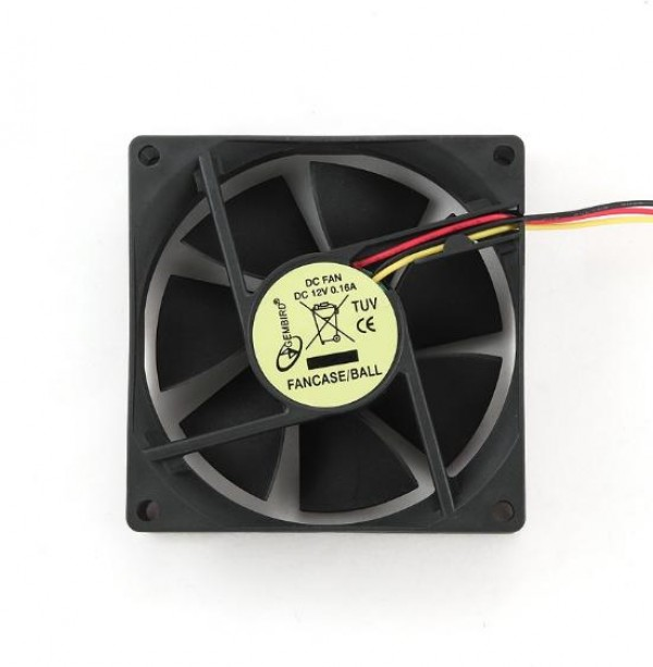GEMBIRD FANCASE/BALL  ventilator za kuciste ball bearing 80x80mm