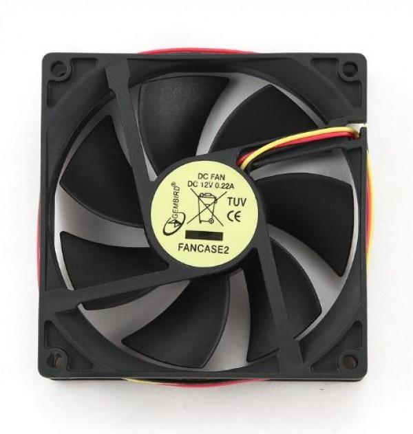 GEMBIRD FANCASE2  ventilator za kuciste 90x90x25mm
