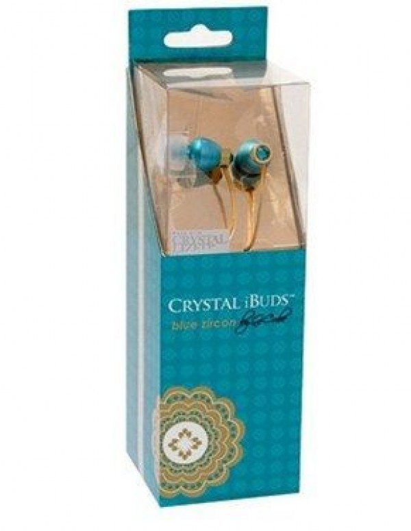 A4-TECH A4-iB-990T IBuds - Crystal Beats - Blue Zircon Made with Crystallized Swarovski (399)