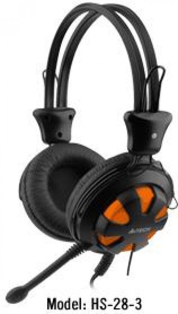 A4-TECH A4-HS-28-3 Gejmerske slusalice sa mikrofonom black/orange