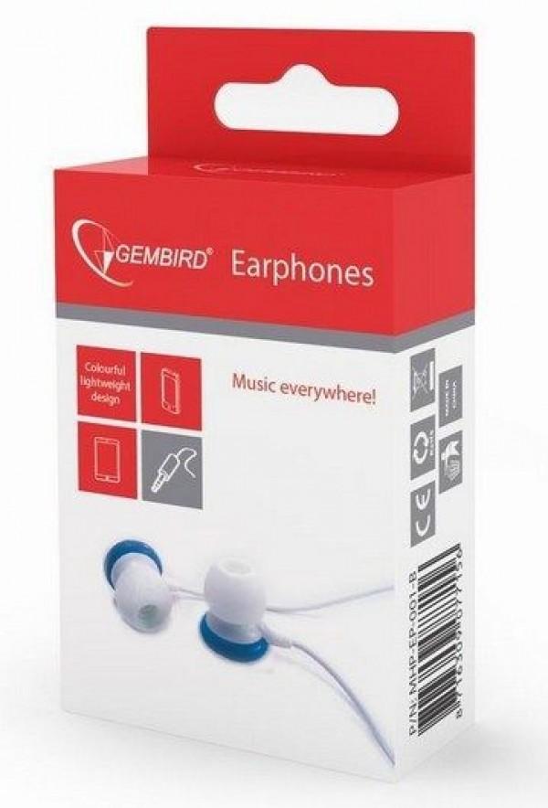 GEMBIRD MHP-EP-001-B  MP3 slusalice blue