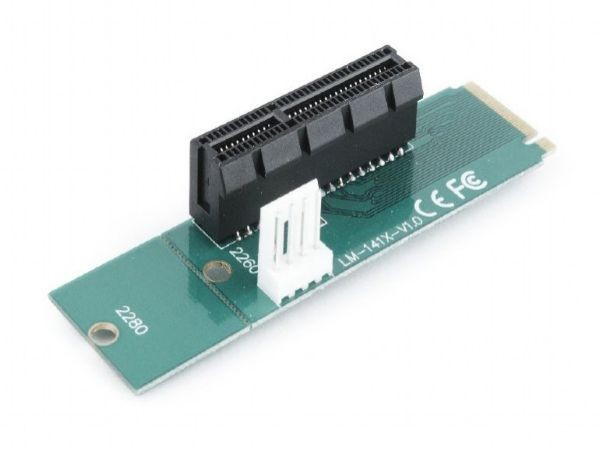 GEMBIRD RC-M.2-01  PCI-Express to M.2 adapter add-on card