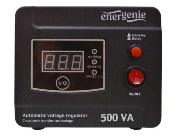GEMBIRD EG-AVR-D500-01  Automatic voltage regulator and stabilizer \''Digital Series\'', 500VA (alt)