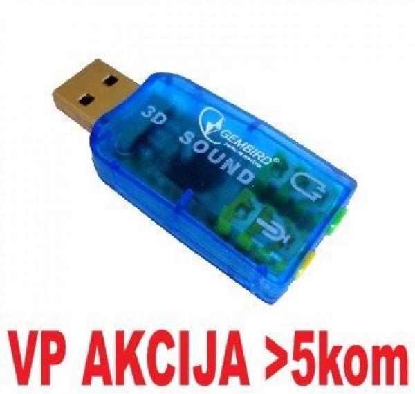 GEMBIRD CMP-SOUNDUSB13  USB 5.1 3D zvucna karta, zamenjuje audio kontrolora u PC (SC-USB-01) (239)