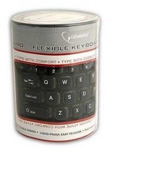 GEMBIRD KB-109F-B  Fleksibilna tastatura US layot USB+PS/2