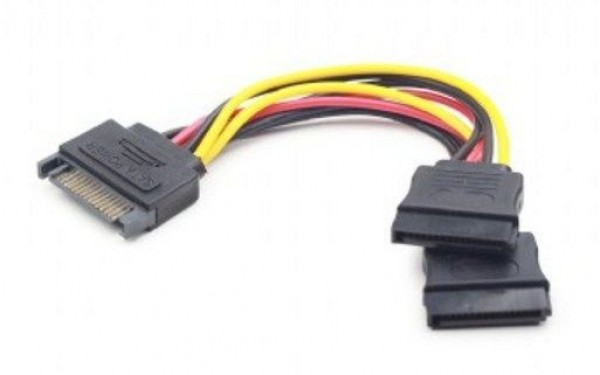 GEMBIRD CC-SATAM2F-01  SATA power splitter cable, 0.15 m