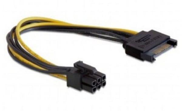 GEMBIRD CC-PSU-SATA  SATA power adapter cable for PCI express 6-pina, 0.2 m