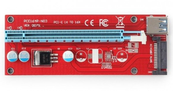 GEMBIRD RC-PCIEX-05  PCI-Express riser add-on card, SATA power