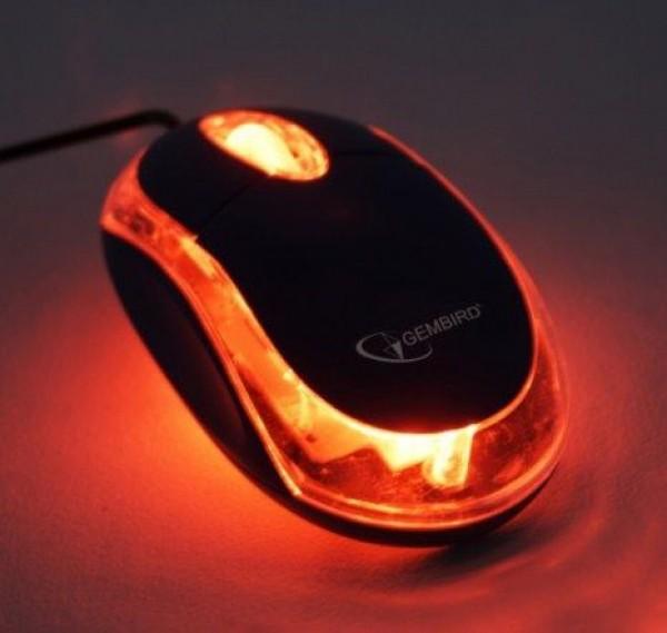GEMBIRD MUS-U-01-BKT  Optički miš USB 1000Dpi black/transparent