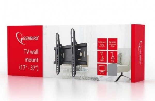 GEMBIRD WM-37T-01  TV nosac fiksni/tilt 17-37'' VESA max.20x20cm, max 25kg, drzac