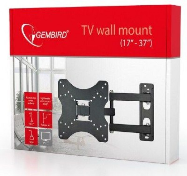 GEMBIRD WM-37RT-01  TV nosac rotate/tilt 17-37'' VESA max.20x20cm, max 40kg, drzac