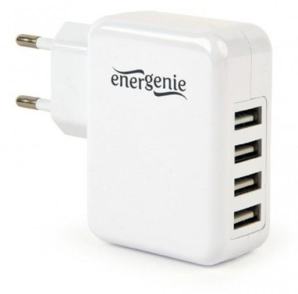 GEMBIRD EG-U4AC-02  punjac za telefone i tablete 5v 3.1A 4xUSB white