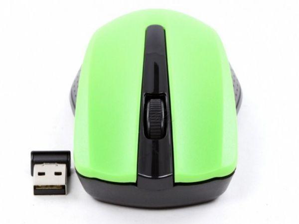 GEMBIRD MUSW-101-G  Bezicni mis 2,4Ghz opticki USB 1200Dpi green