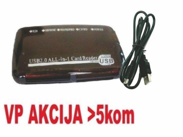GEMBIRD FD2-ALLIN1-BLK  USB2.0 citac svih tipova memorijskih kartica(319)
