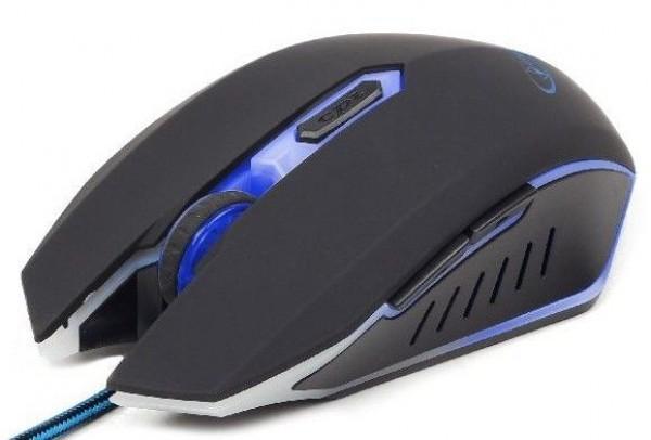 GEMBIRD MUSG-001-B  Gejmerski mis opticki sa plavim osvetljenjem 400-2400Dpi black