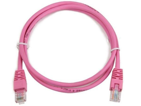 GEMBIRD PP12-0.25M/RO  UTP cat.5E Rose Patch cord molded strain relief 50u\'' plugs, 0,25 m