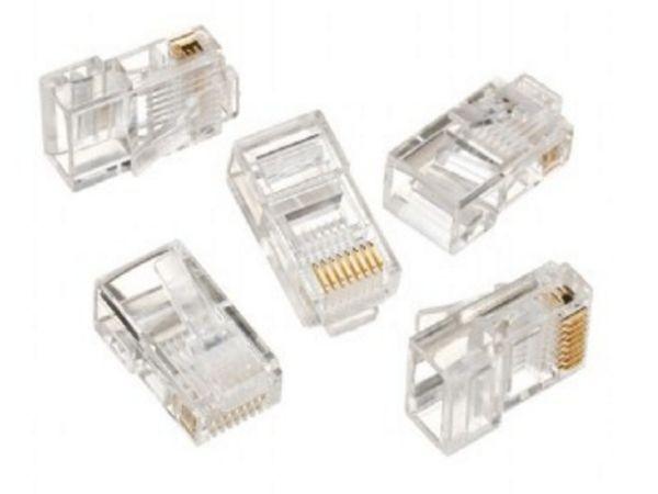 """GEMBIRD LC-8P8C-001/100 Modular plug 8P8C 30u"""" gold plated, 100 u pakovanju / CENA PO PAKOVANJU"""