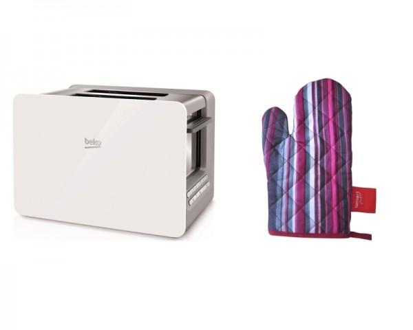 BEKO TAM 6202 W toster +  LT0011 kuhinjska rukavica