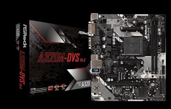 AsRock AM4 Matična ploča A320M-DVS R4.0