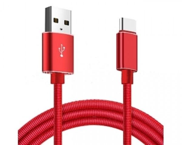 E-GREEN Kabl 2.0 USB A - USB 3.1 tip C 1m crveni