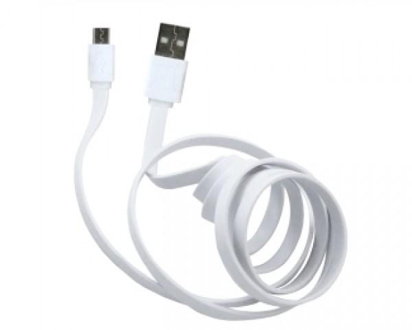 E-GREEN Kabl 2.0 USB A - USB Micro-B MM 1m  beli