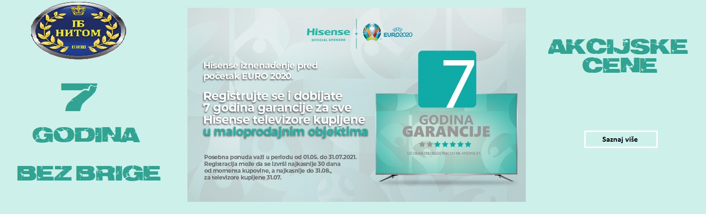 Hisense 7 godina garancija